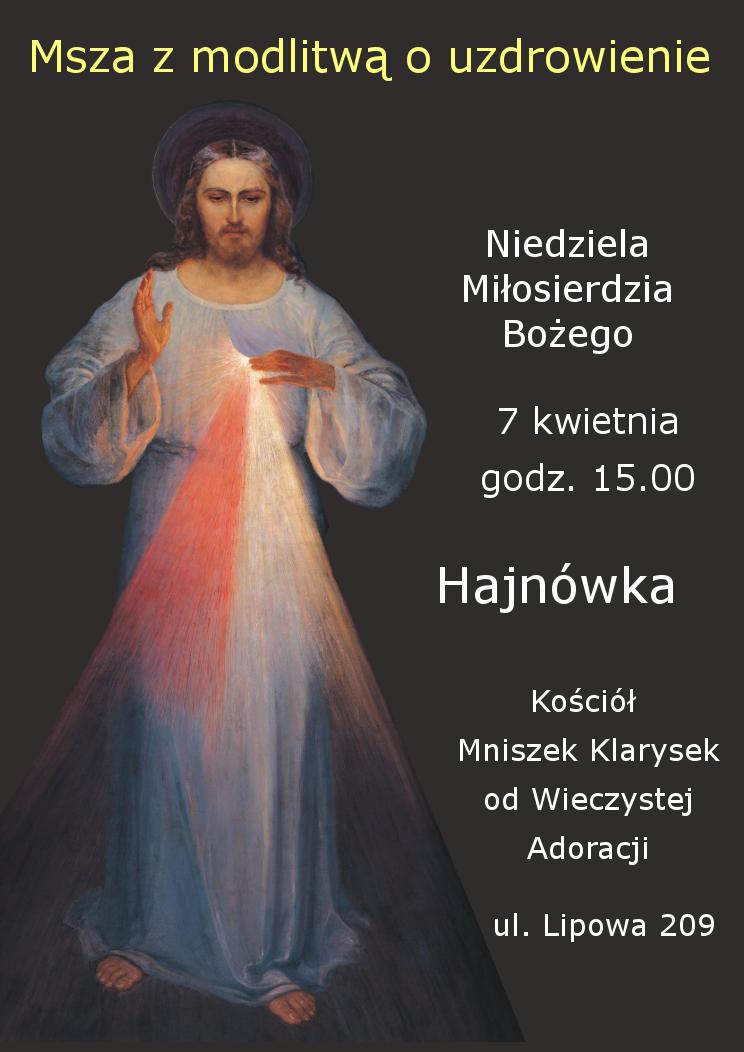 plakat msza hajnowka